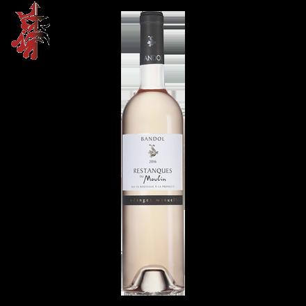 """Image illustrant le produit AOP Bandol """" Les Restanques du Moulin """" 12cl, un produit de qualité qui fait partie des Vins Rosé"""